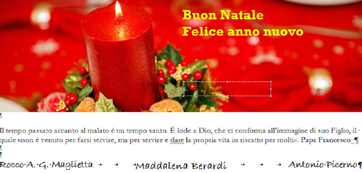 Auguri Di Natale Ad Un Figlio.Gli Auguri Della Direzione Con Un Pensiero Di Papa Francesco